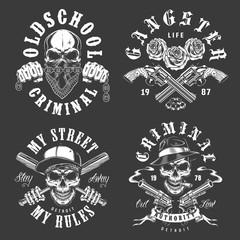 Set of gangster emblems