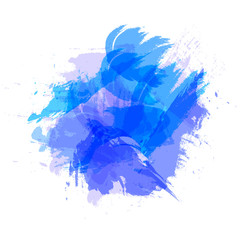 Vector Abtract Brush Strokes, Grunge Blue Shape, Template, Blank Frame.