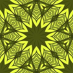 Seamless vector pattern. Geometric floral ornament. For Interior decoration, wallpaper, presentation, fashion design.