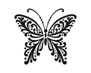 Ornate butterfly for your design