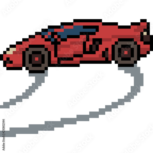 Vector Pixel Art Sport Car Stock Image And Royalty Free Vector