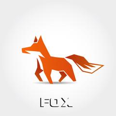 orange walk fox logo