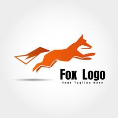 orange jump fox logo