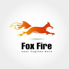 fast fire jump fox logo