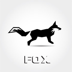 simple abstract Stand fox ready logo
