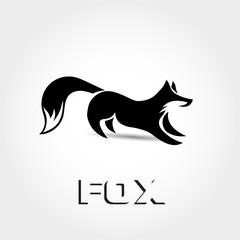 Stand fox ready to catch logo