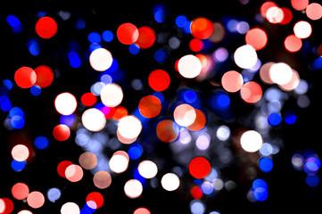 Defocused lights Independence Day background