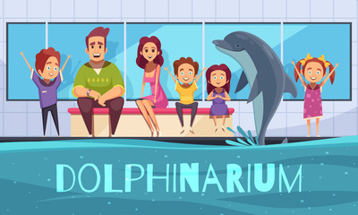 Family With Dolphins Background