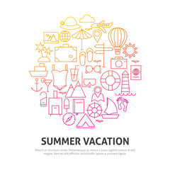 Summer Vacation Circle Concept