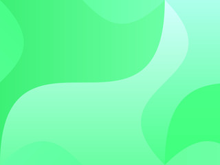 Green background with wavy, smooth lines, shapes. Simple pattern for web banners, posters, brochures. Different shades of green