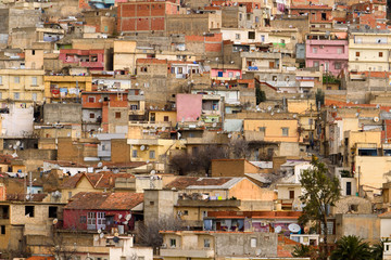 Aerial panorama of Souk Ahras, the city in Algeria