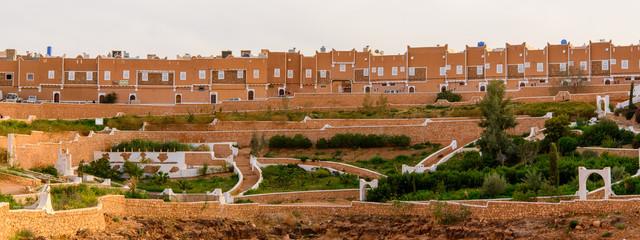 Nature of Ghardaia (Tagherdayt), Algeria, located along Wadi Mzab, UNESCO world heriatage site