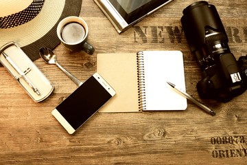 Travel accessories for planning vacations