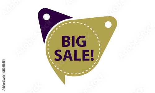 big sale tag template isolated stock image and royalty free vector