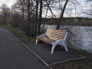 bench on the waterfront