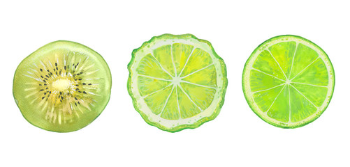 kiwi, bergamot and lime