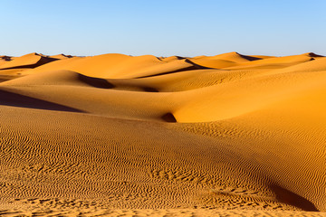 Amazing view of the Sahara desert
