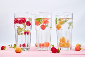 Detox infused flavored water