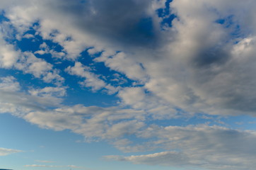 sky in blue