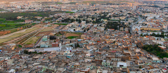Aerial panorama of Tlemcen, a city in north-western Algeria