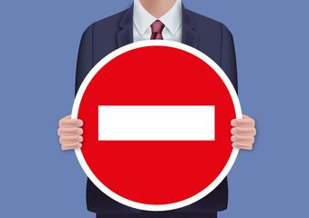 sens interdit - panneau - message - présentation - interdit - interdiction - signalisation - pancarte