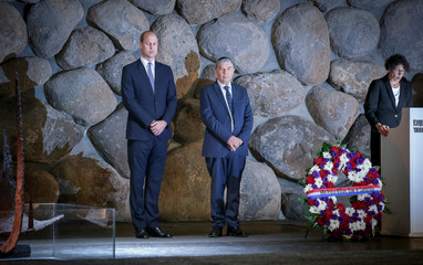 Britain's Prince William, visits the Yad Vashem's Hall of Remembrance in Jerusalem