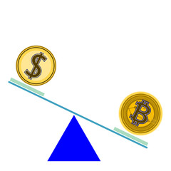 Bitcoin,Blockchain,Cryptocurrency . Easy compare between BITCOIN VS US DOLLARS .