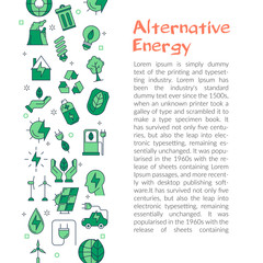 Text saying about alternative resources