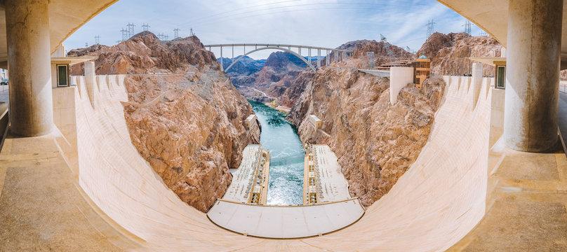 Hoover Dam panorama, Nevada, USA