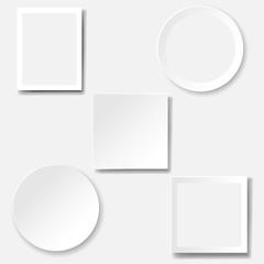 Frame Set Isolated White Background