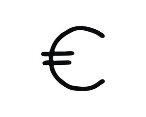 euro icon design illustration,hand drawn style design, designed for web and app