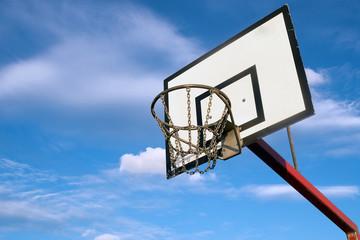 Basketball hoop outdoors
