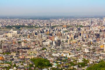 大倉山から見た札幌市街の街並み