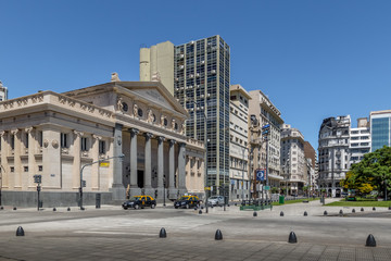 Plaza Lavalle with Presidente Roca School - Buenos Aires, Argentina