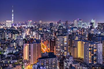 東京都市部の夜景