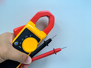 Digital clamp meter electric tester tool.