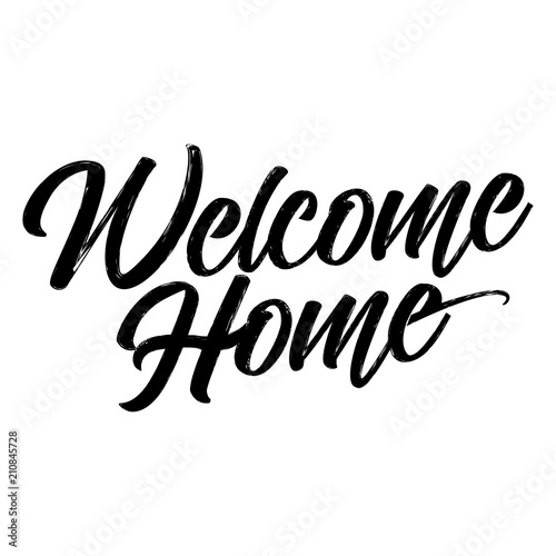 Welcome home hand drawn typography poster conceptual handwritten welcome home hand drawn typography poster conceptual handwritten greeting hand letter script word m4hsunfo
