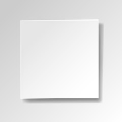 White Banner Isolated White Background