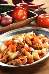 Chinese cuisine sweet and sour pork