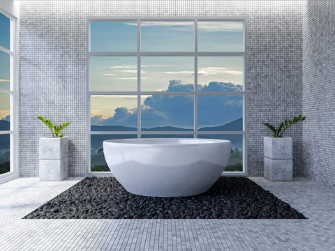 3d toilet interior design