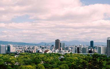 View of Osaka skyline, Japan