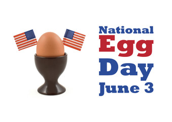 National Egg Day illustration. Egg with american flag stock images. American breakfast. Egg decoration. Boiled egg on a white background. Important day