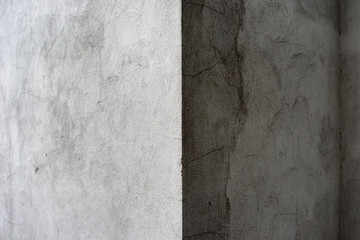 The angle of the gray house with a shadow Wall mural