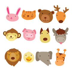 animals head character design