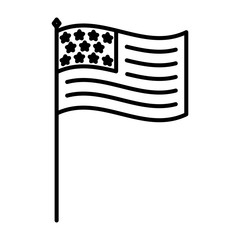 united states of america flag in stand
