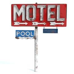 3d illustration of a motel sign