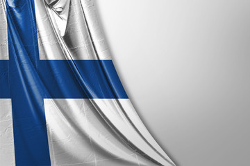 Isolated Finland Flag waving, 3D Realistic Finland Flag Rendered