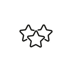 Best offer line icon. Three stars, best price, promotion. Sale concept. Vector illustration can be used for topics like shopping, special offer, rating