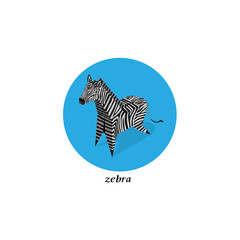 Vector Paper box animal,Zebra