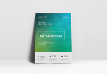 Green and Blue Geometric Flyer Layout